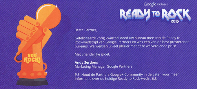 Webkeizer Ready to rock - Online marketing en webdesign